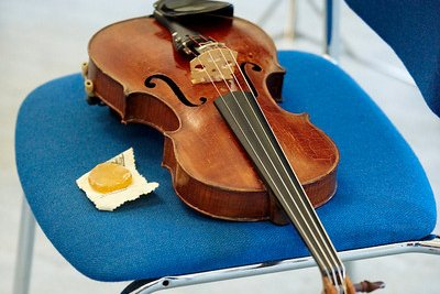 Violin on chair